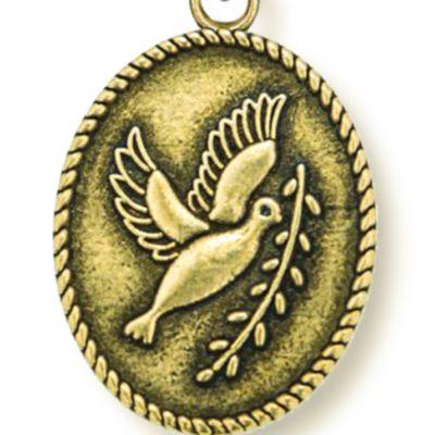 Charm Bracelets: Yellow Gold-Tone Angelica Peace Dove Expandable Bangle
