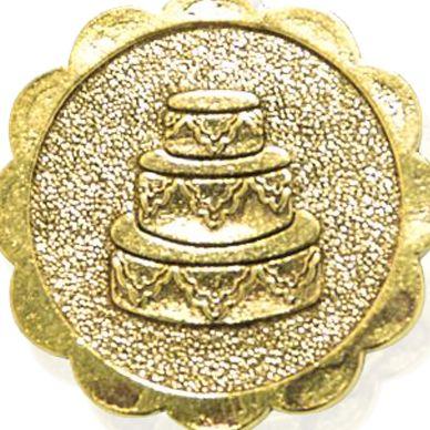 Fine Jewelry: Yellow Gold-Tone Angelica Wedding Cake Expandable Bangle
