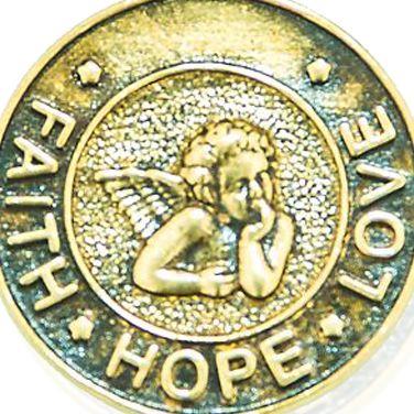 Charm Bracelets: Yellow Gold-Tone Angelica Faith, Hope, Love Expandable Bangle