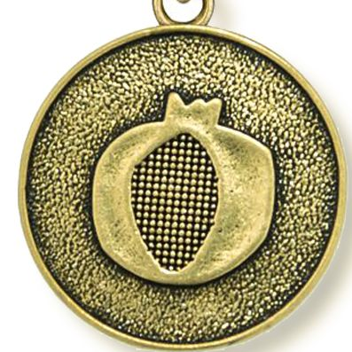 Charm Bracelets: Yellow Gold-Tone Angelica Pomegranate Expandable Bangle