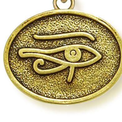 Charm Bracelets: Yellow Gold-Tone Angelica Eye of Horus Expandable Bangle