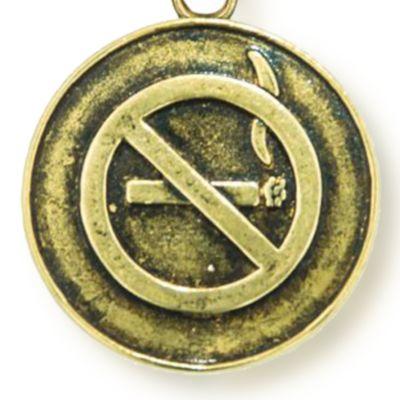 Charm Bracelets: Yellow Gold-Tone Angelica No Smoking Expandable Bangle