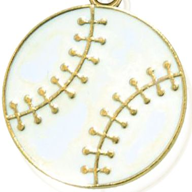 Charm Bracelets: Yellow Gold-Tone Angelica Baseball Expandable Bangle