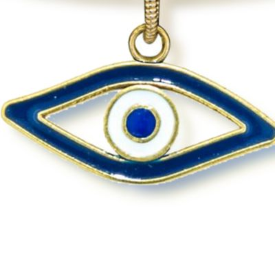 Charm Bracelets: Yellow Gold-Tone Angelica Evil Eye Expandable Bangle