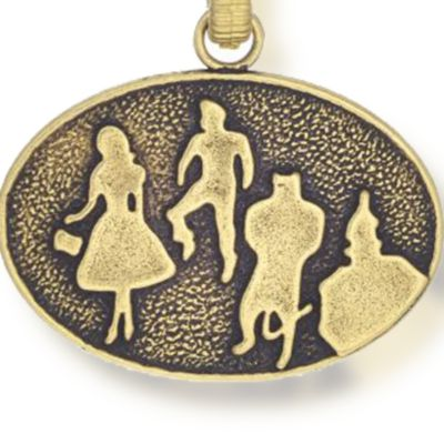 Charm Bracelets: Yellow Gold-Tone Angelica The Wizard of Oz Silhouette Expandable Bangle
