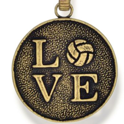 Charm Bracelets: Yellow Gold-Tone Angelica Volleyball Love Expandable Bangle