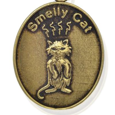 Charm Bracelets: Yellow Gold-Tone Angelica Friends Smelly Cat Expandable Bangle