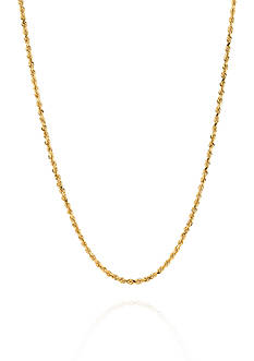 Belk & Co. 14k Yellow Gold Sparkle Rope Chain Necklace