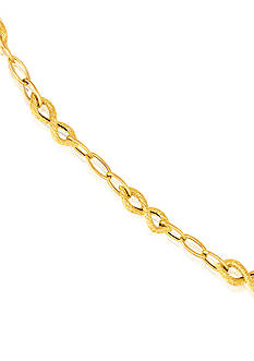 Belk & Co. 14k Yellow Gold Figure 8 Necklace