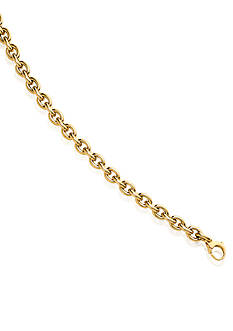 Belk & Co. 14k Yellow Gold Hollow Link Bracelet