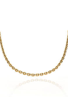 Belk & Co. 14k Yellow Gold Oval Link Necklace