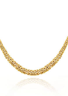 Belk & Co. 14k Yellow Gold Byzantine Necklace