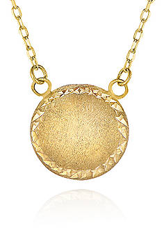 Belk & Co. 14K Yellow Gold Satin Button Necklace