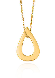14k Yellow Gold Teardrop Pendant