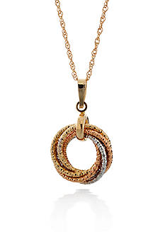 Belk & Co. 14k Tri Color Gold Love Knot Pendant