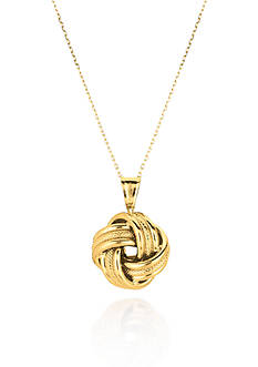 Belk & Co. 14k Yellow Gold Love Knot Pendant