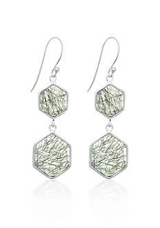 Phillip Gavriel® Sterling Silver Black Rutilated Quartz Earrings