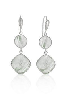 Phillip Gavriel® Sterling Silver Green Rutilated Quartz Earrings