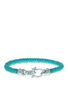 Phillip Gavriel® Sterling Silver Leather Bracelet