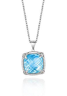 Phillip Gavriel® Sterling Silver Blue Topaz Pendant
