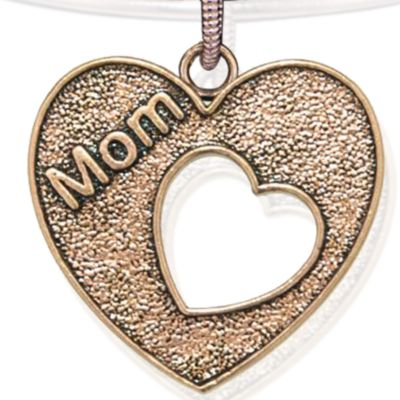 Charm Bracelets: Rose Gold-Tone Angelica Mom Heart Expandable Bangle