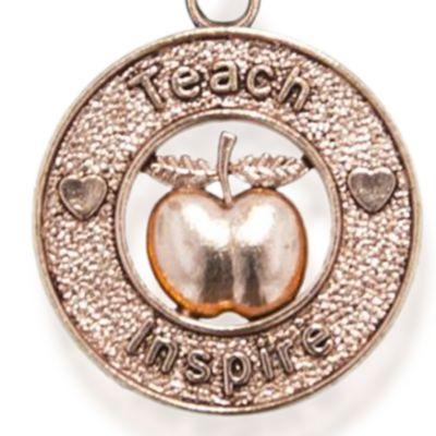Charm Bracelets: Rose Gold-Tone Angelica Teacher Expandable Bangle