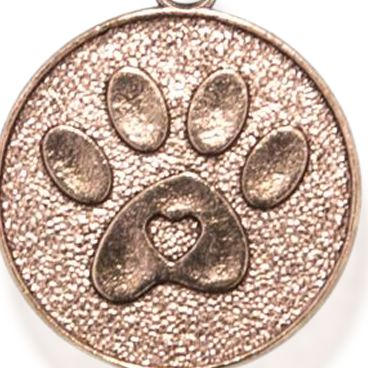 Charm Bracelets: Rose Gold-Tone Angelica Paw Print Expandable Bangle