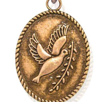 Charm Bracelets: Rose Gold-Tone Angelica Peace Dove Expandable Bangle