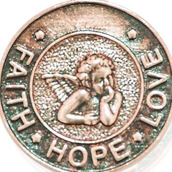 Charm Bracelets: Rose Gold-Tone Angelica Faith, Hope, Love Expandable Bangle