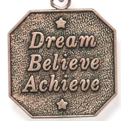 Charm Bracelets: Rose Gold-Tone Angelica Dream-Believe-Achieve Expandable Bangle
