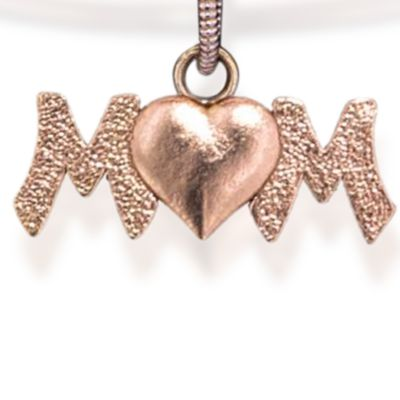 Charm Bracelets: Rose Gold-Tone Angelica Mom Expandable Bangle
