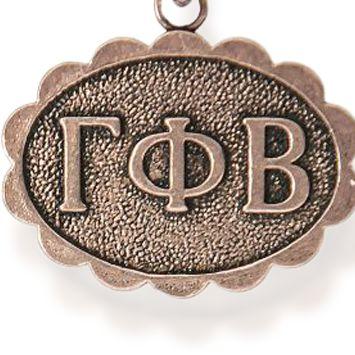 Charm Bracelets: Rose Gold-Tone Angelica Gamma Phi Beta Expandable Bangle