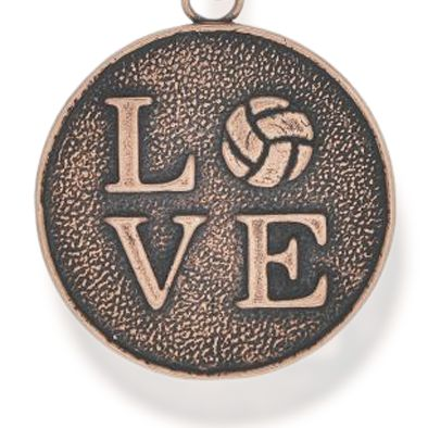 Charm Bracelets: Rose Gold-Tone Angelica Love Volleyball Expandable Bangle