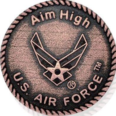 Charm Bracelets: Rose Gold-Tone Angelica U.S. Air Force Aim High Expandable Bangle