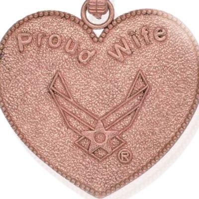 Charm Bracelets: Rose Gold-Tone Angelica U.S. Air Force Proud Wife Expandable Bangle