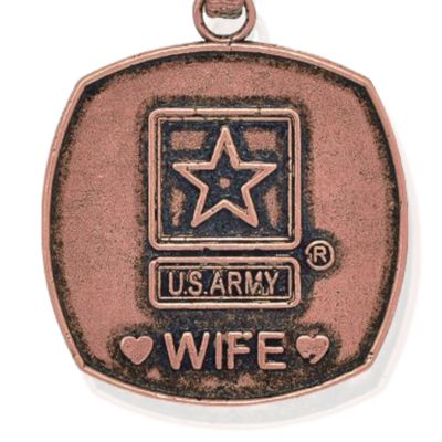 Charm Bracelets: Rose Gold-Tone Angelica United States Army Wife Expandable Bangle