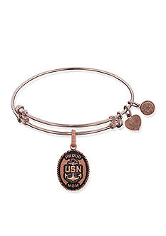 Angelica United States Navy Proud Mom Expandable Bangle