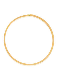 Belk & Co. 14k Two Tone Gold Reversible Omega Necklace