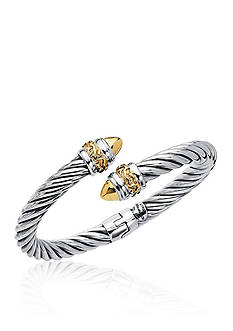 Phillip Gavriel® Sterling Silver and 18k Yellow Gold Bangle