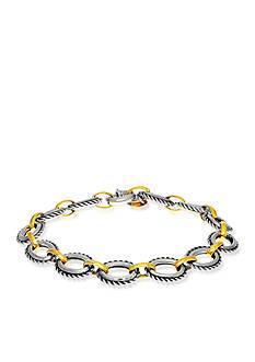 Phillip Gavriel® Sterling Silver with 18k Yellow Gold Bracelet