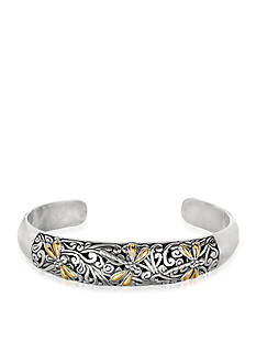 Phillip Gavriel® Sterling Silver and 18k Yellow Gold Dragonfly Cuff