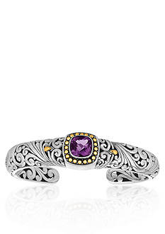 Phillip Gavriel® Sterling Silver with 18k Yellow Gold Amethyst Bangle