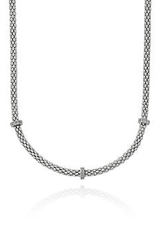Phillip Gavriel® Diamond Popcorn Necklace in Sterling Silver and 18k Yellow Gold