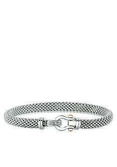 Phillip Gavriel® Diamond Popcorn Bracelet in Sterling Silver and 18k Yellow Gold