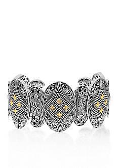 Phillip Gavriel® Sterling Silver with 18k Yellow Gold Starburst Bracelet