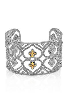 Phillip Gavriel® Diamond Cuff in Sterling Silver and 18k Yellow Gold