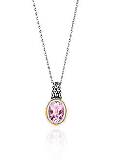 Phillip Gavriel® Sterling Silver with 18k Yellow Gold Pink Amethyst Pendant