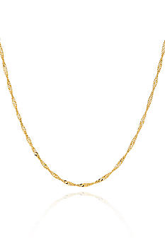 Belk & Co. 14K Yellow Gold 16-in. 1.5 Millimeter Singapore Chain