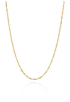 Belk & Co. 14K Yellow Gold 20 Inch 1.5 Millimeter Singapore Chain