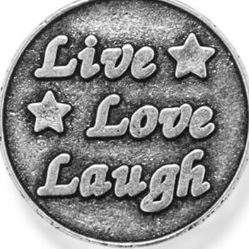 Fine Bangles: Silver-Tone Angelica Live Love Laugh Expandable Bangle